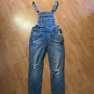 Silver jeans overalls